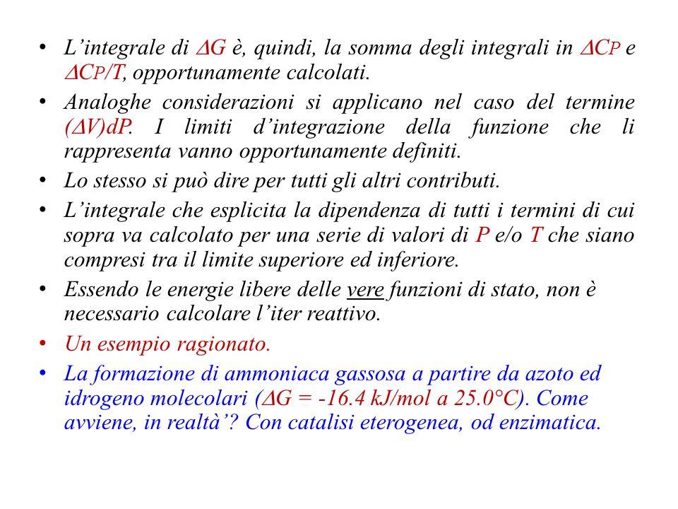 L'integrale di DG è, quindi, la somma degli integrali in DCP e DCP/T, opportunamente calcolati.