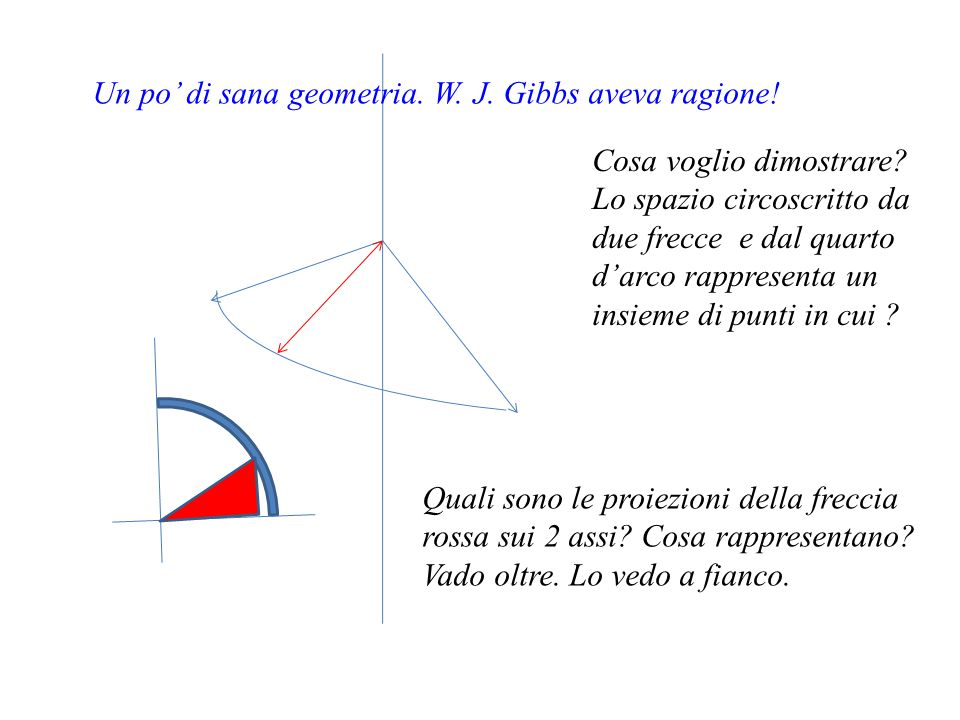 Un po' di sana geometria. W. J. Gibbs aveva ragione!