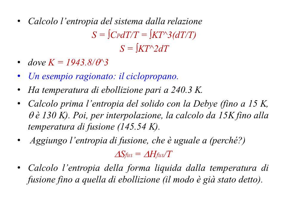 S = ∫CPdT/T = ∫KT^3(dT/T)