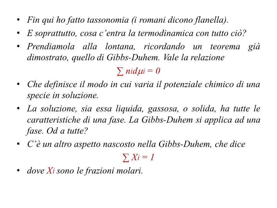 Fin qui ho fatto tassonomia (i romani dicono flanella).