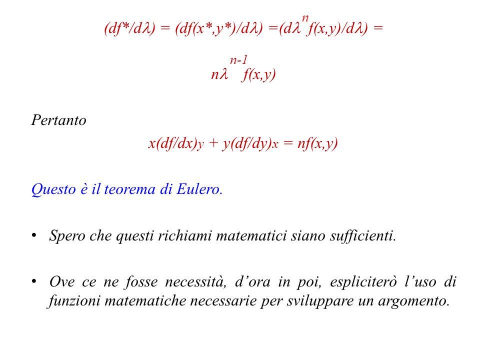 (df*/dl) = (df(x*,y*)/dl) =(dl f(x,y)/dl) = nl f(x,y) Pertanto