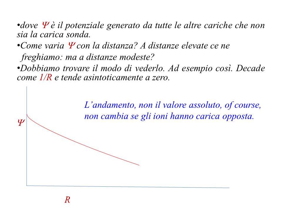 dove Y è il potenziale generato da tutte le altre cariche che non sia la carica sonda.