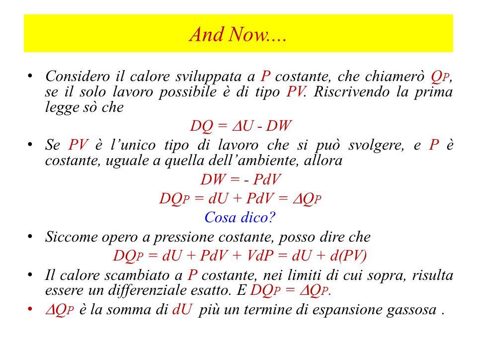 DQP = dU + PdV + VdP = dU + d(PV)