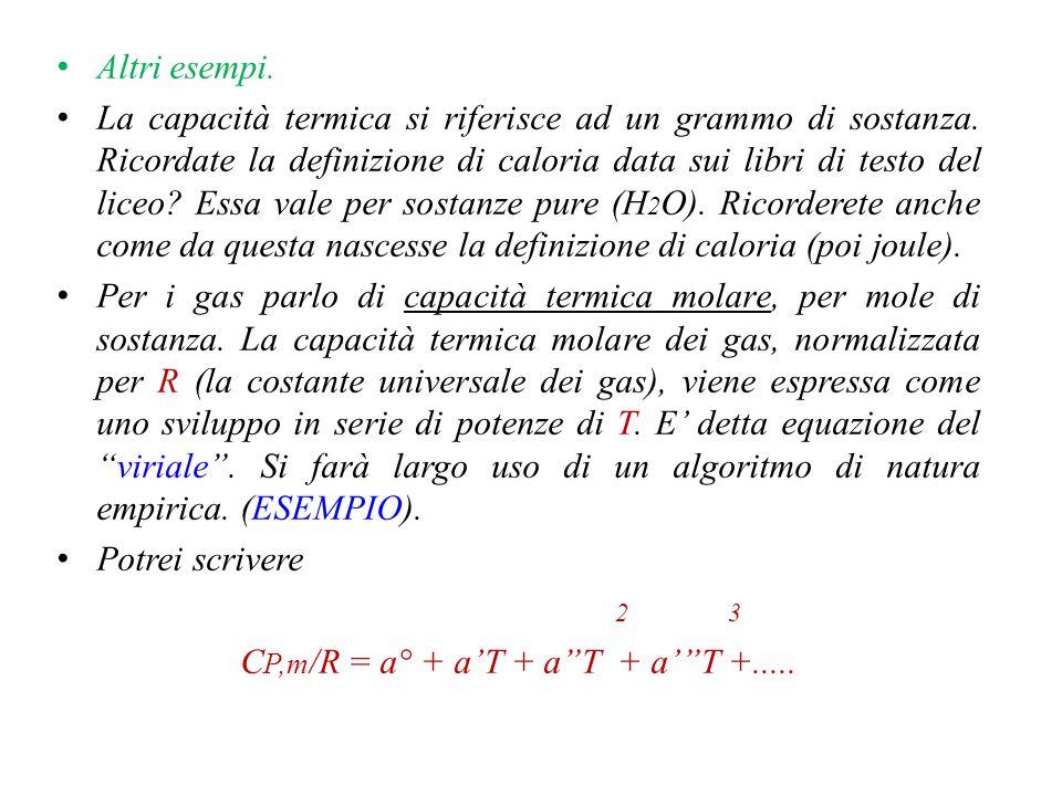 CP,m/R = a° + a'T + a T + a' T +.....