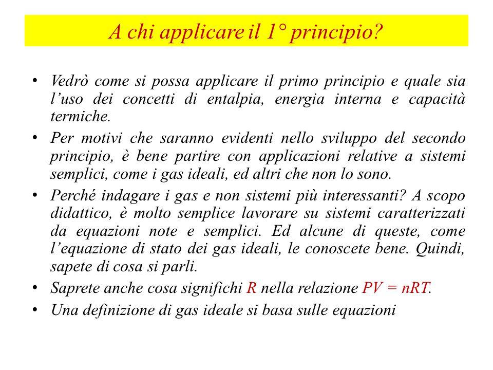 A chi applicare il 1° principio