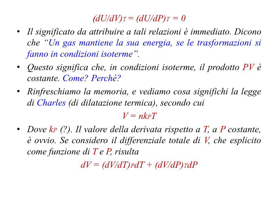 dV = (dV/dT)PdT + (dV/dP)TdP
