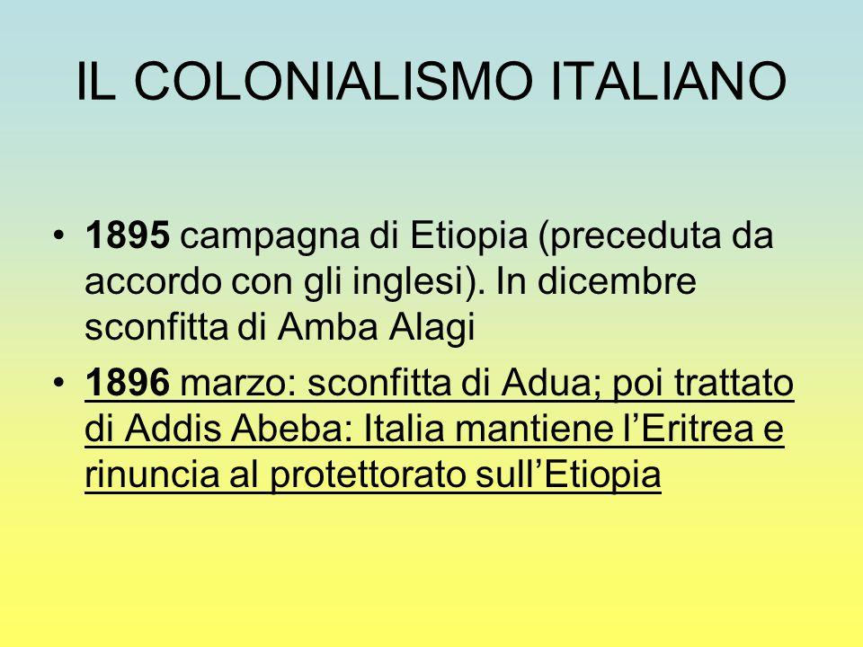IL COLONIALISMO ITALIANO