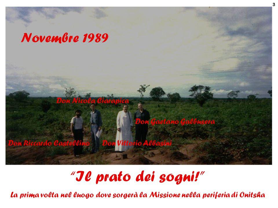 Il prato dei sogni! Novembre 1989 Don Nicola Ciarapica