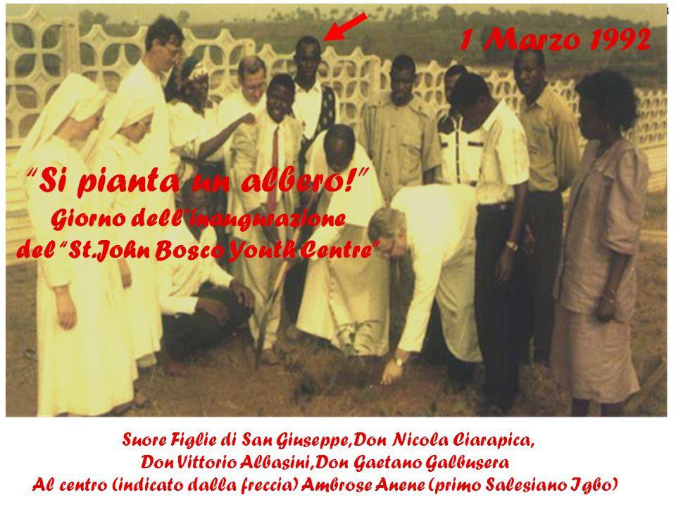 Giorno dell'inaugurazione del St.John Bosco Youth Centre