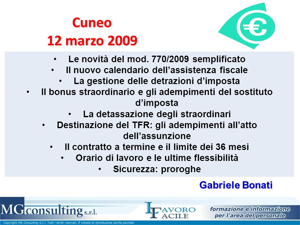 Cuneo 12 marzo 2009 Gabriele Bonati