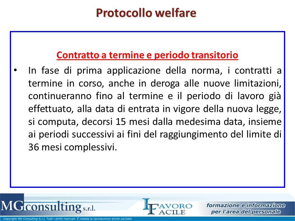 Contratto a termine e periodo transitorio