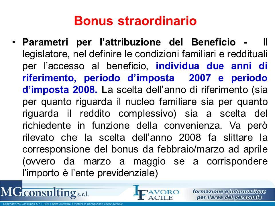 Bonus straordinario