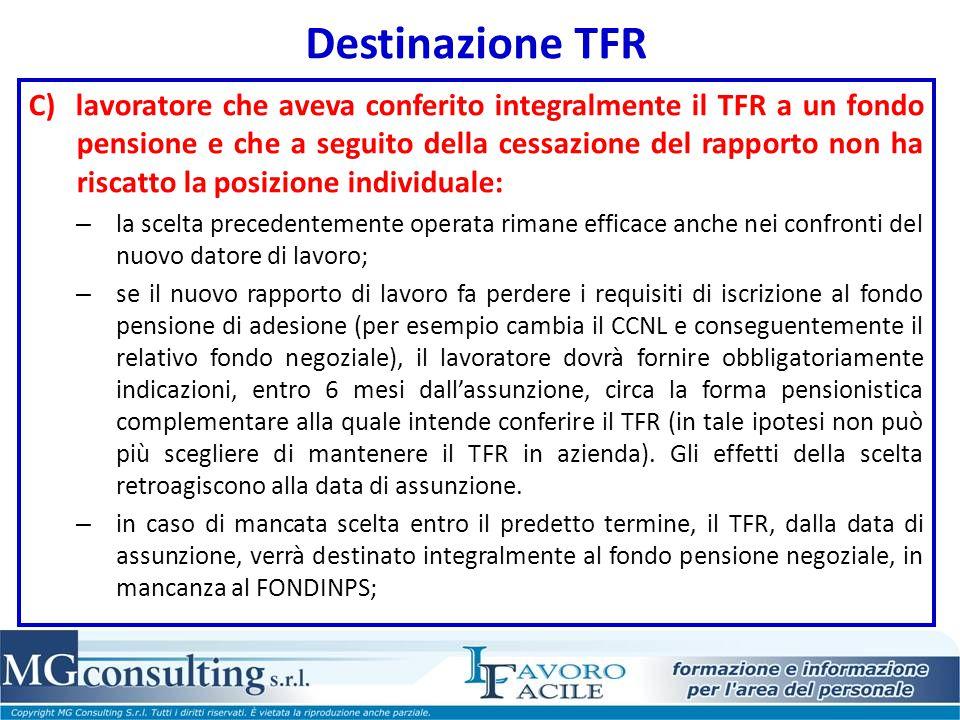Destinazione TFR