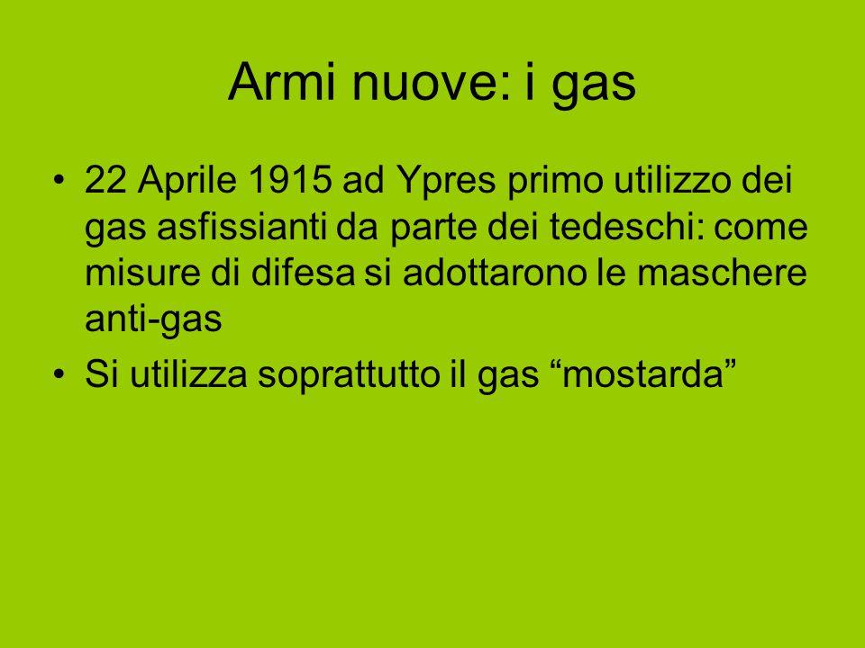 Armi nuove: i gas
