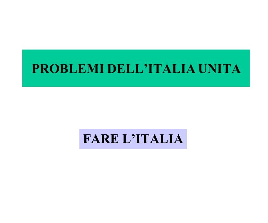 PROBLEMI DELL'ITALIA UNITA