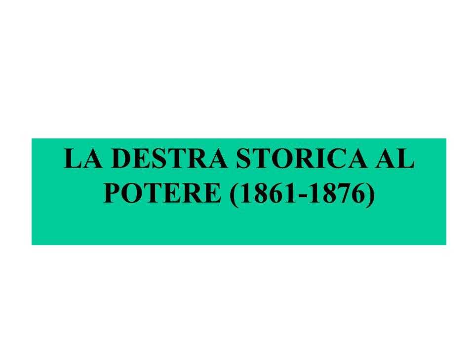 LA DESTRA STORICA AL POTERE (1861-1876)