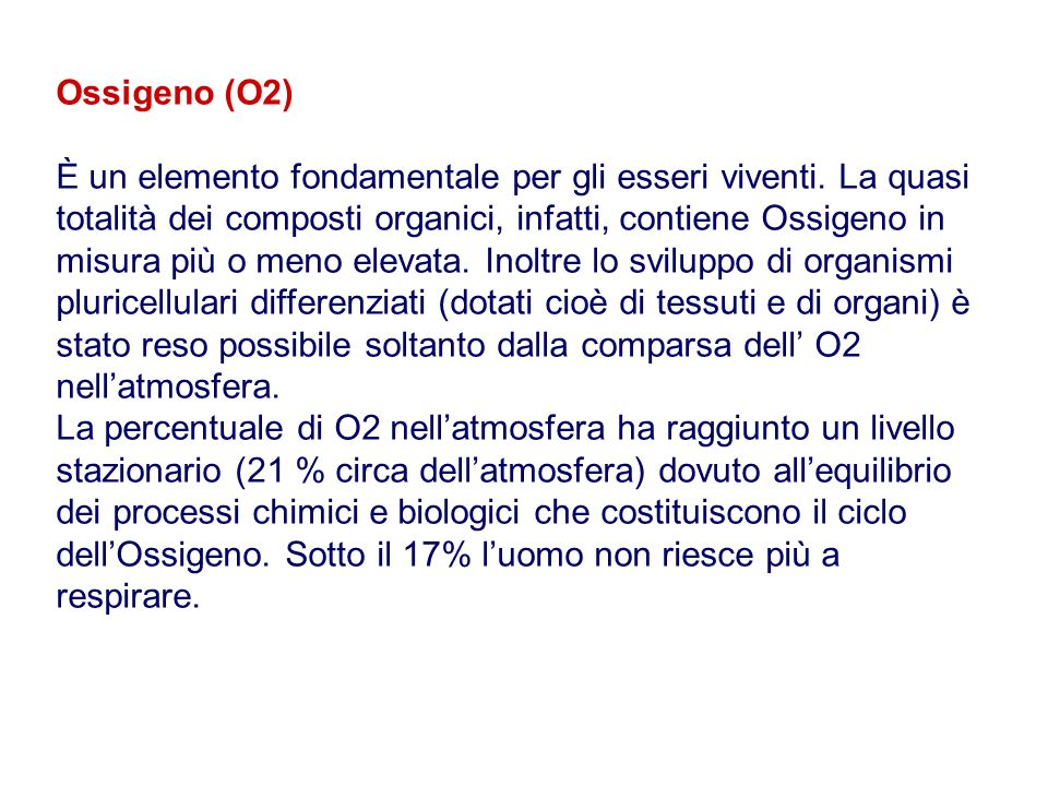 Ossigeno (O2)
