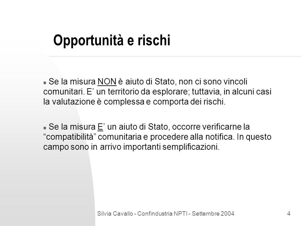 Silvia Cavallo - Confindustria NPTI - Settembre 2004