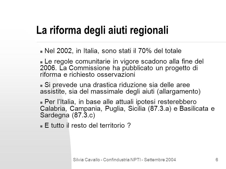La riforma degli aiuti regionali