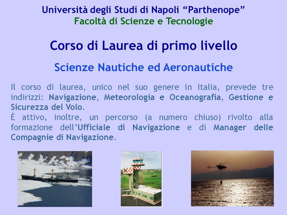 Corso di Laurea di primo livello Scienze Nautiche ed Aeronautiche
