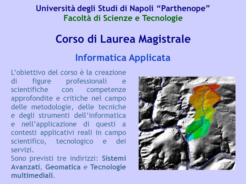Corso di Laurea Magistrale Informatica Applicata