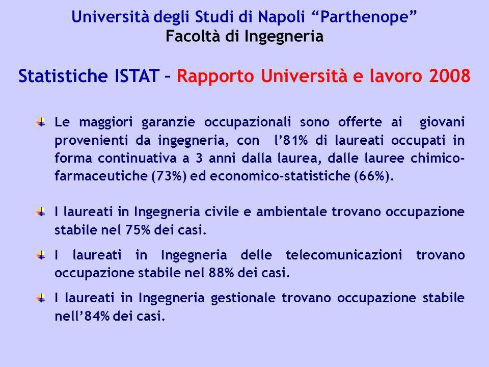 Statistiche ISTAT – Rapporto Università e lavoro 2008