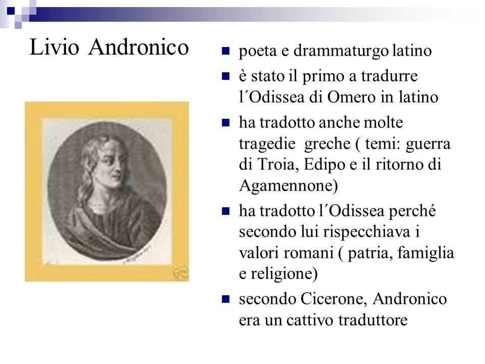 Livio Andronico poeta e drammaturgo latino
