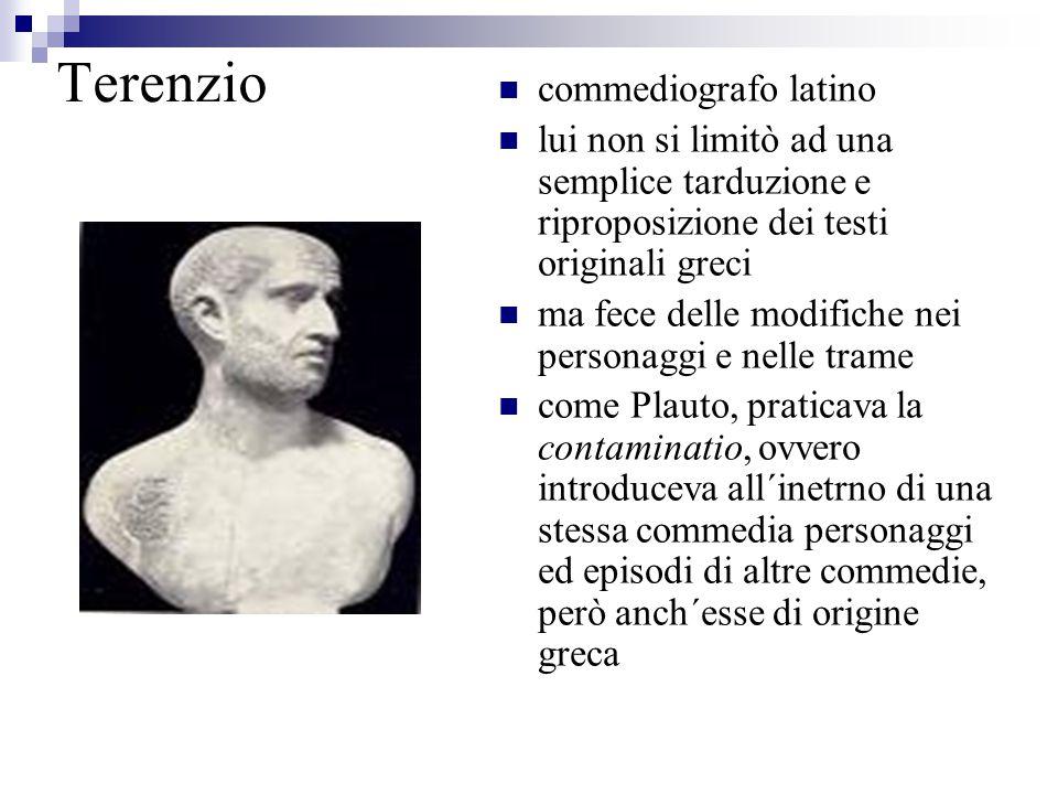 Terenzio commediografo latino