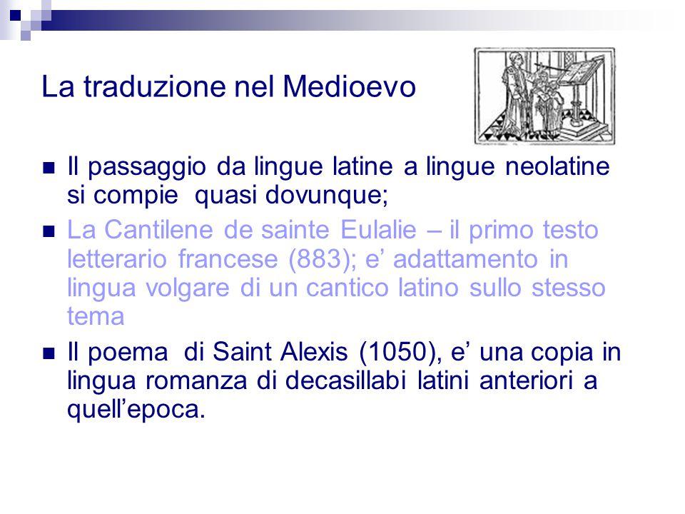 La traduzione nel Medioevo