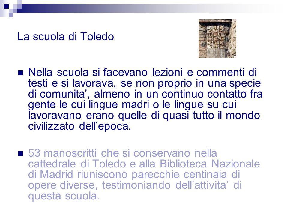 La scuola di Toledo