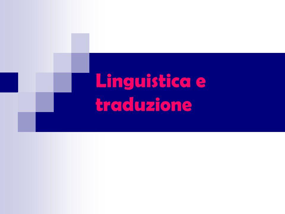 Linguistica e traduzione