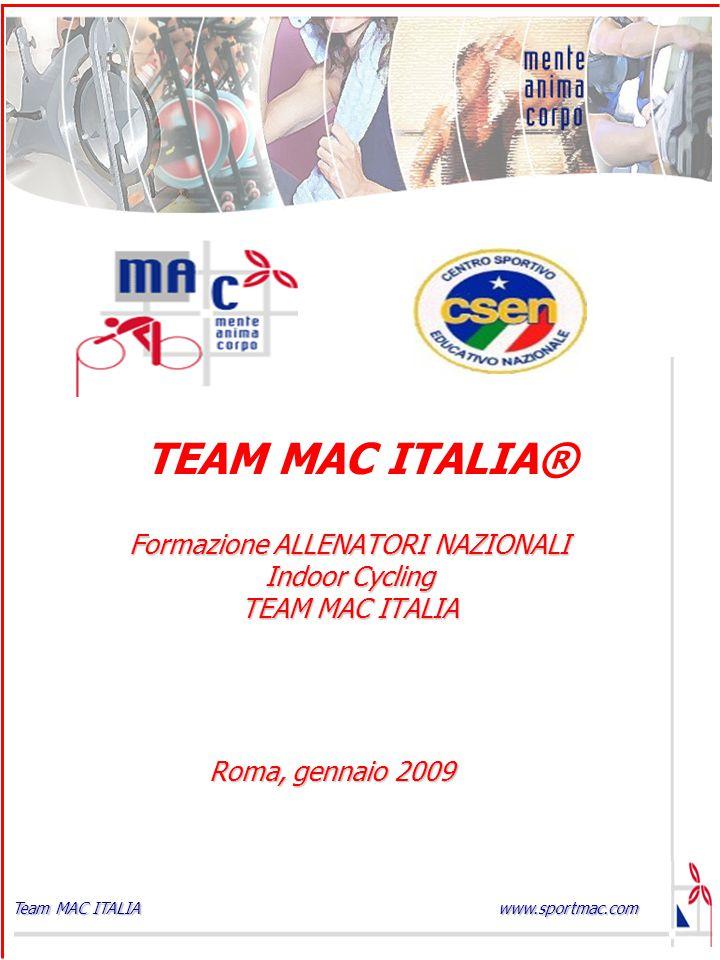 Formazione ALLENATORI NAZIONALI Indoor Cycling TEAM MAC ITALIA