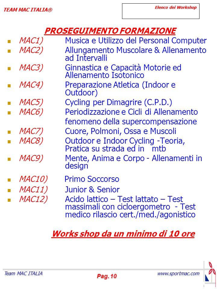 PROSEGUIMENTO FORMAZIONE MAC1) Musica e Utilizzo del Personal Computer