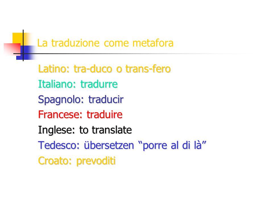 La traduzione come metafora