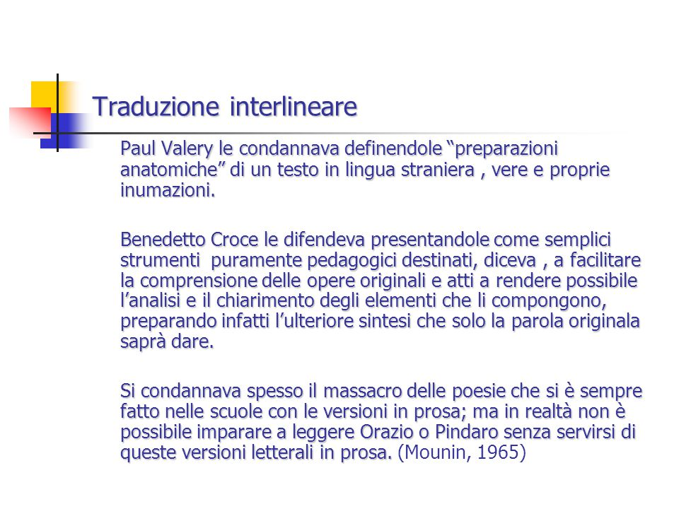 Traduzione interlineare