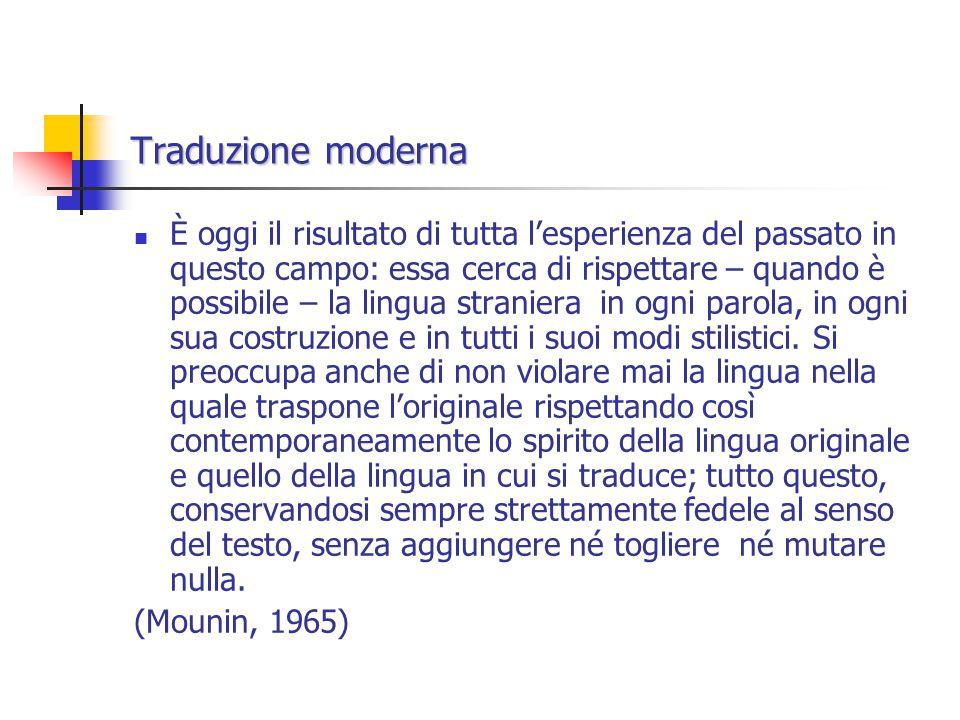 Traduzione moderna