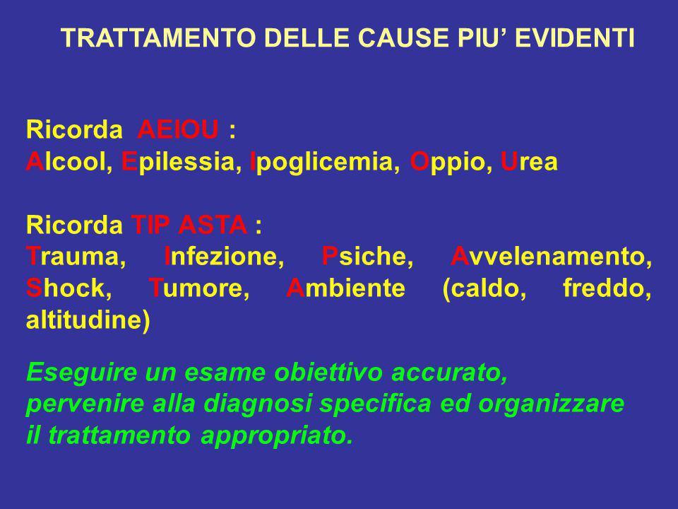 TRATTAMENTO DELLE CAUSE PIU' EVIDENTI