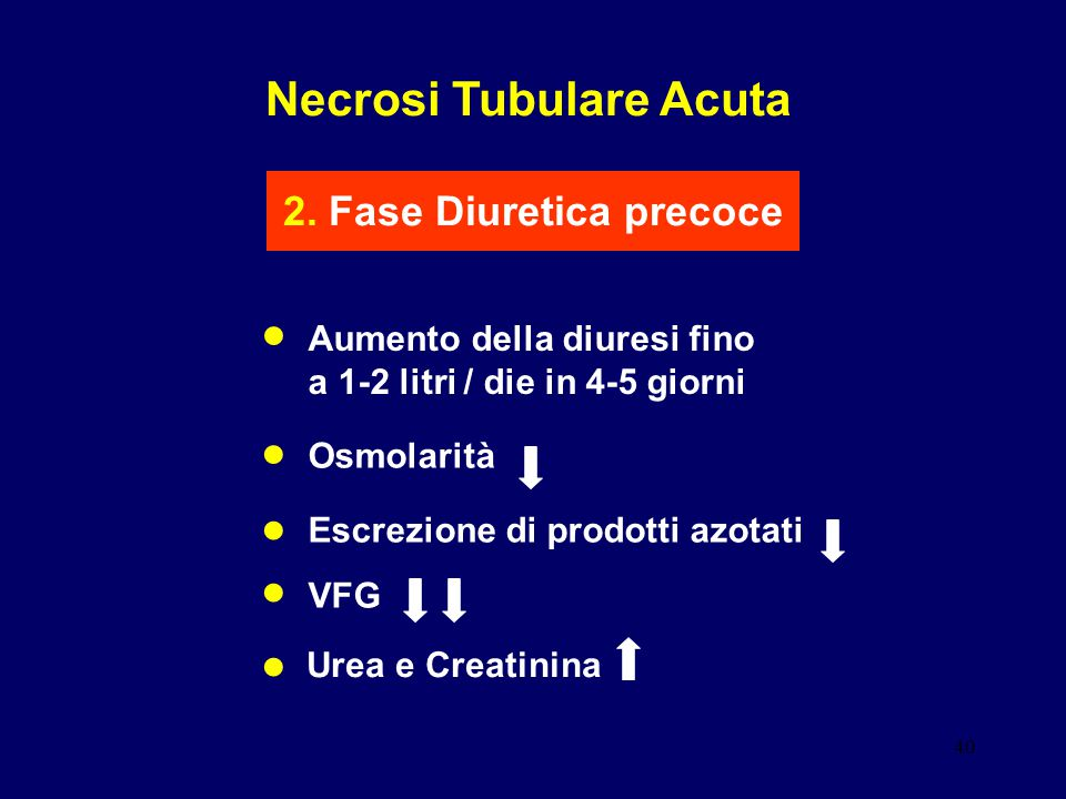 Necrosi Tubulare Acuta 2. Fase Diuretica precoce