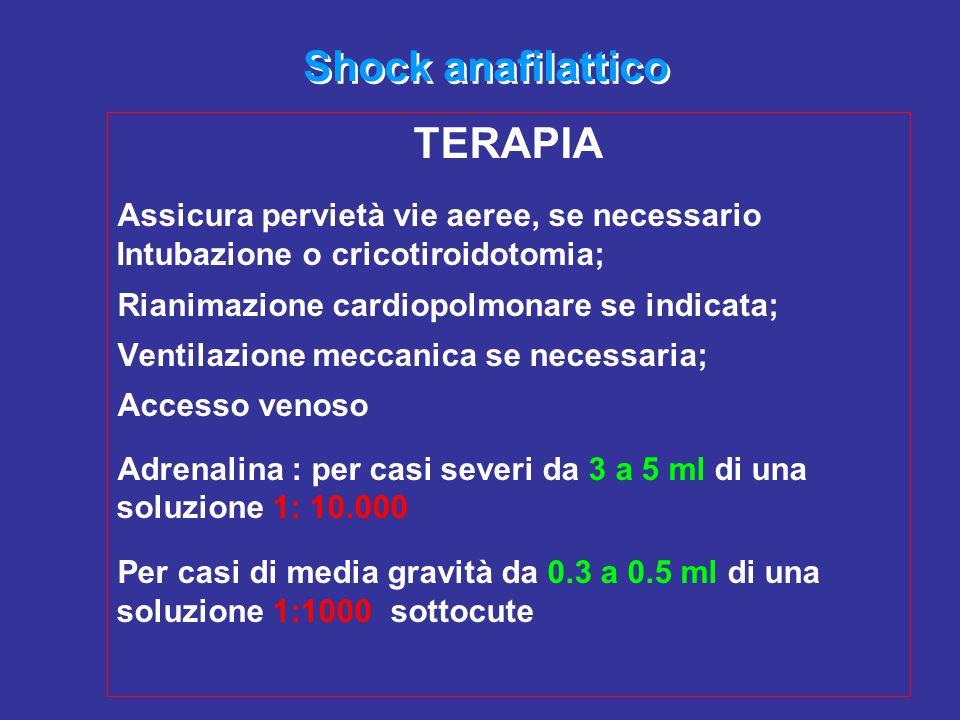 Shock anafilattico TERAPIA