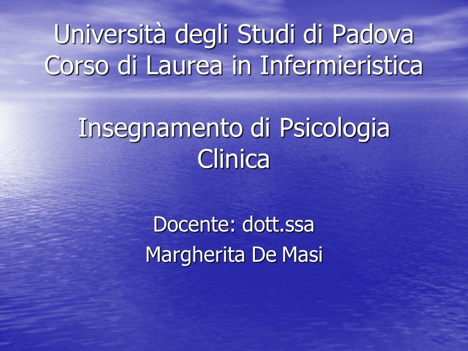 Docente: dott.ssa Margherita De Masi