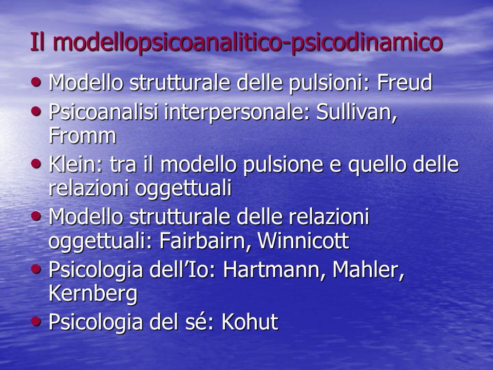 Il modellopsicoanalitico-psicodinamico