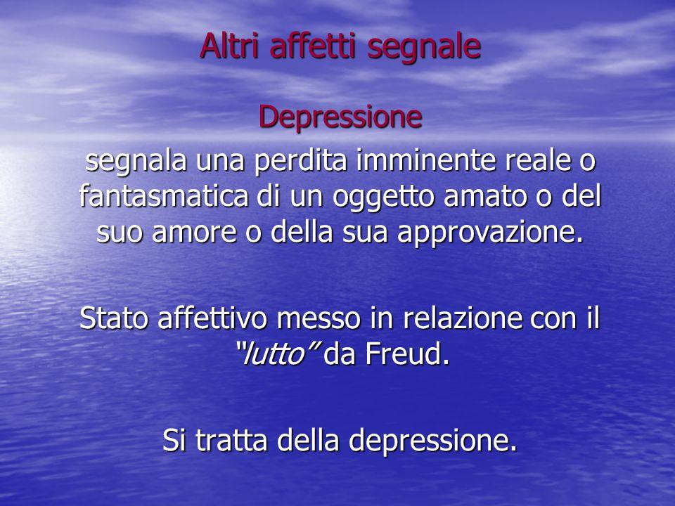 Altri affetti segnale Depressione