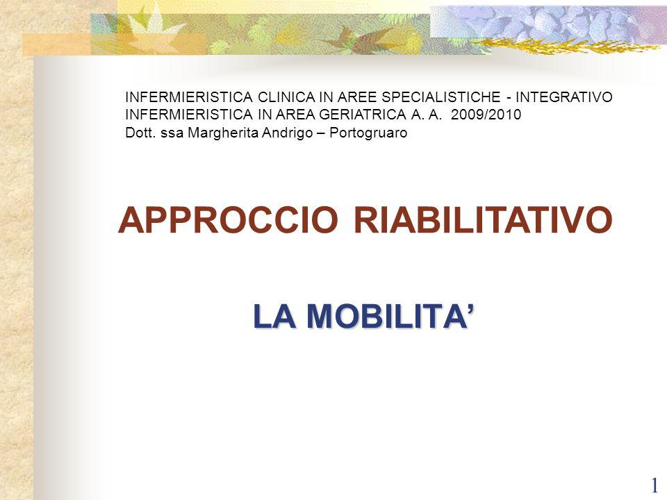 APPROCCIO RIABILITATIVO