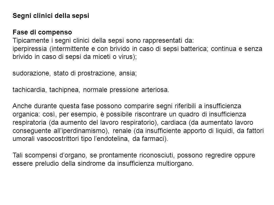 Segni clinici della sepsi