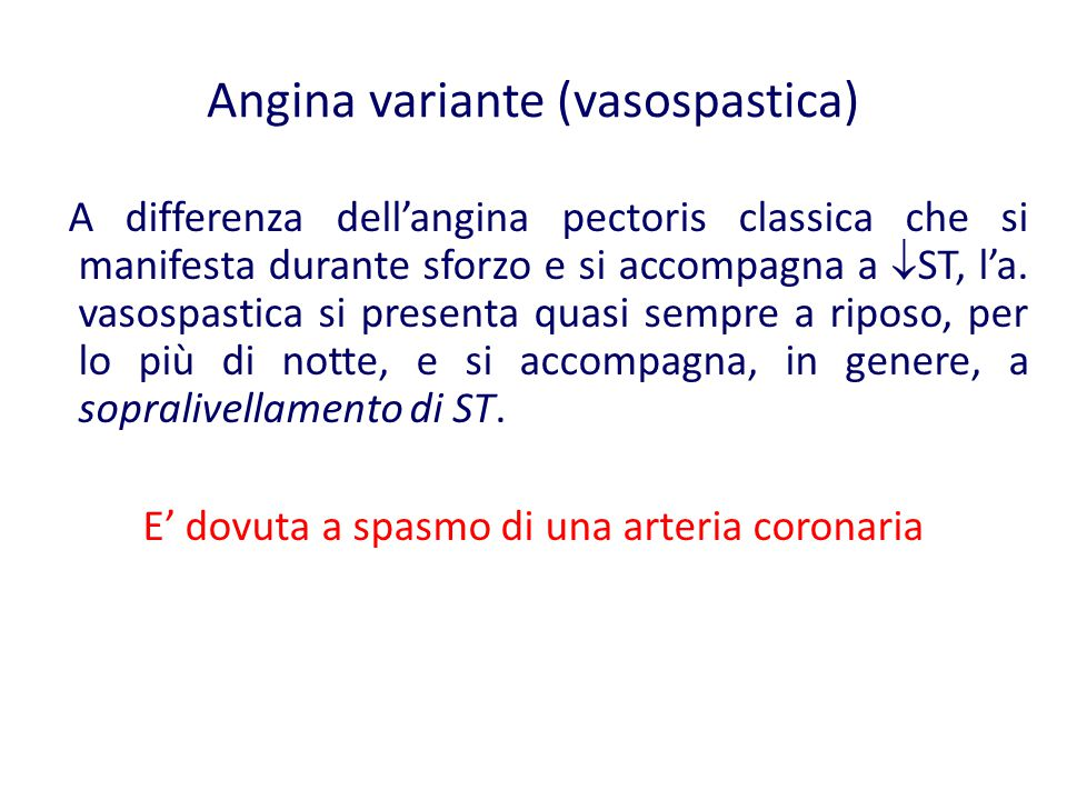 Angina variante (vasospastica)