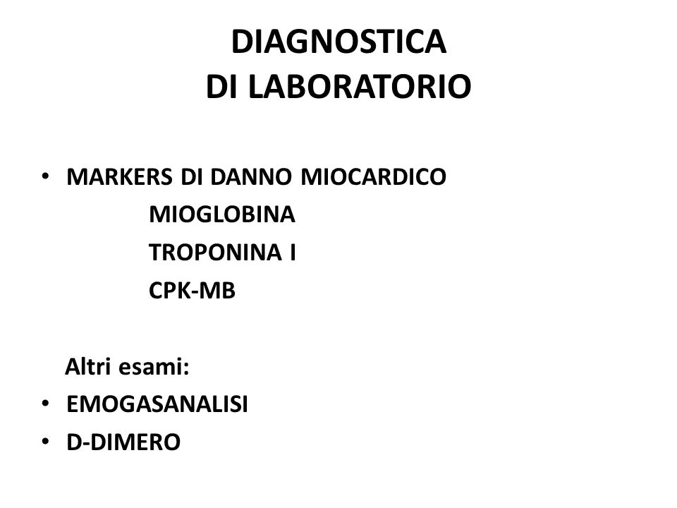 DIAGNOSTICA DI LABORATORIO