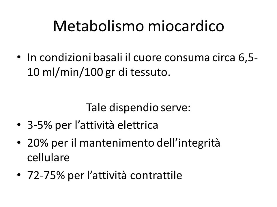 Metabolismo miocardico