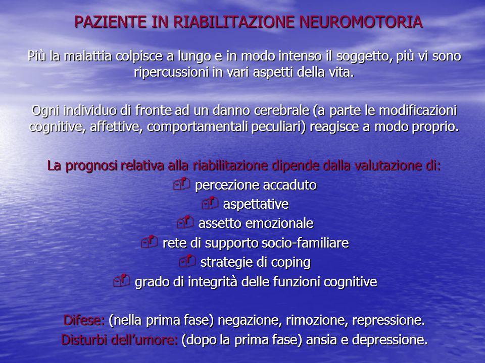 PAZIENTE IN RIABILITAZIONE NEUROMOTORIA