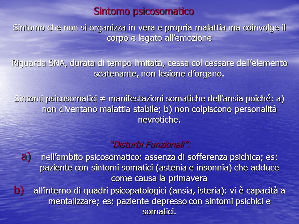 Sintomo psicosomatico