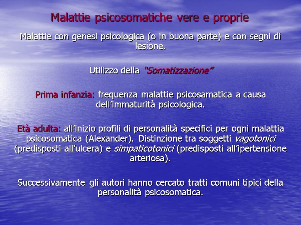 Malattie psicosomatiche vere e proprie